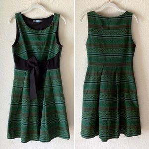 Anthro Eva Franco Green Sleeveless Fit Flare Dress